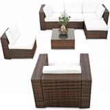 gartenmöbel garnitur B1022110 loungemöbel rasenkanten abdeckung markise sonnenaufgang lounge set 21tlg. xinro