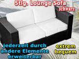 Profitieren Sie vom Lounge Sofa Polyrattan anthrazit aus hochwertigem Kunststoff. Genießen Sie moderne Gartenmöbel von heute.