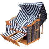 Bild 2 - Sylt Strandkorb ✔ 2-Sitzer ✔ XL ✔ blau-weiss ✔ PE-Rattan - XINRO