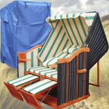 Bild 3 - Strandkorb Balkon ✔ 2-Sitzer ✔ XL ✔ Grün-weiss ✔ PE-Rattan - XINRO