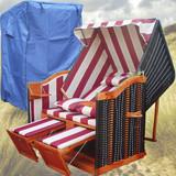 Bild 3 - Strandkorb Kaufen ✔ 2-Sitzer ✔ XL ✔ rot-weiss ✔ PE-Rattan - XINRO
