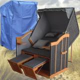 Bild 3 - Strandkorb Anthrazit ✔ 2-Sitzer ✔ XL ✔ anthrazit ✔ PE-Rattan - XINRO