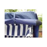 Bild 5 - Strandkorb Anthrazit ✔ 2-Sitzer ✔ XL ✔ anthrazit ✔ PE-Rattan - XINRO