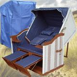 Bild 3 - Strandkorb Cuxhaven ✔ 2-Sitzer ✔ XL ✔ blau-weiss ✔ PE-Rattan - XINRO