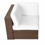 Bild 2 - 4-tlg Rattan Lounge Sessel ✔ XL ✔ 1er ✔ braun - XINRO