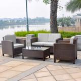 Bild 2 - 13-tlg Lounge Set Polyrattan ✔ XL ✔ braun - XINRO