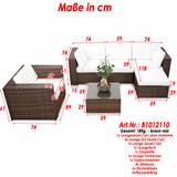 Bild 3 - 18-tlg Lounge Gartenmoebel Polyrattan ✔ XXL ✔ braun - XINRO