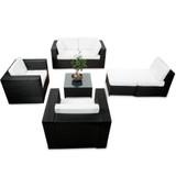 Bild 2 - 21-tlg Lounge Balkonmöbel Polyrattan ✔ XXXL ✔ anthrazit - XINRO