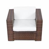 Bild 4 - 21-tlg Gartenmöbel Lounge Set Polyrattan ✔ XXXL ✔ braun - XINRO