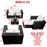 Bild 2 - 15-tlg Gartenmöbel Set Lounge Polyrattan ✔ XXL ✔ anthrazit - XINRO