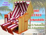 XXL Strandkorb + Schutzhülle für Balkon günstig kaufen