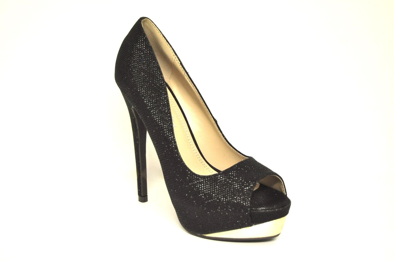detalles de se�ora toe tac�n alto brillo zapatos se�ora zapatos pumps fiesta boda 28071 nuevo ver t�tulo original  heine slipper bestellen imwalking