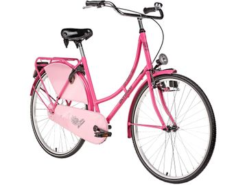"28"" women's town and country bike Bermuda pink Valencia"