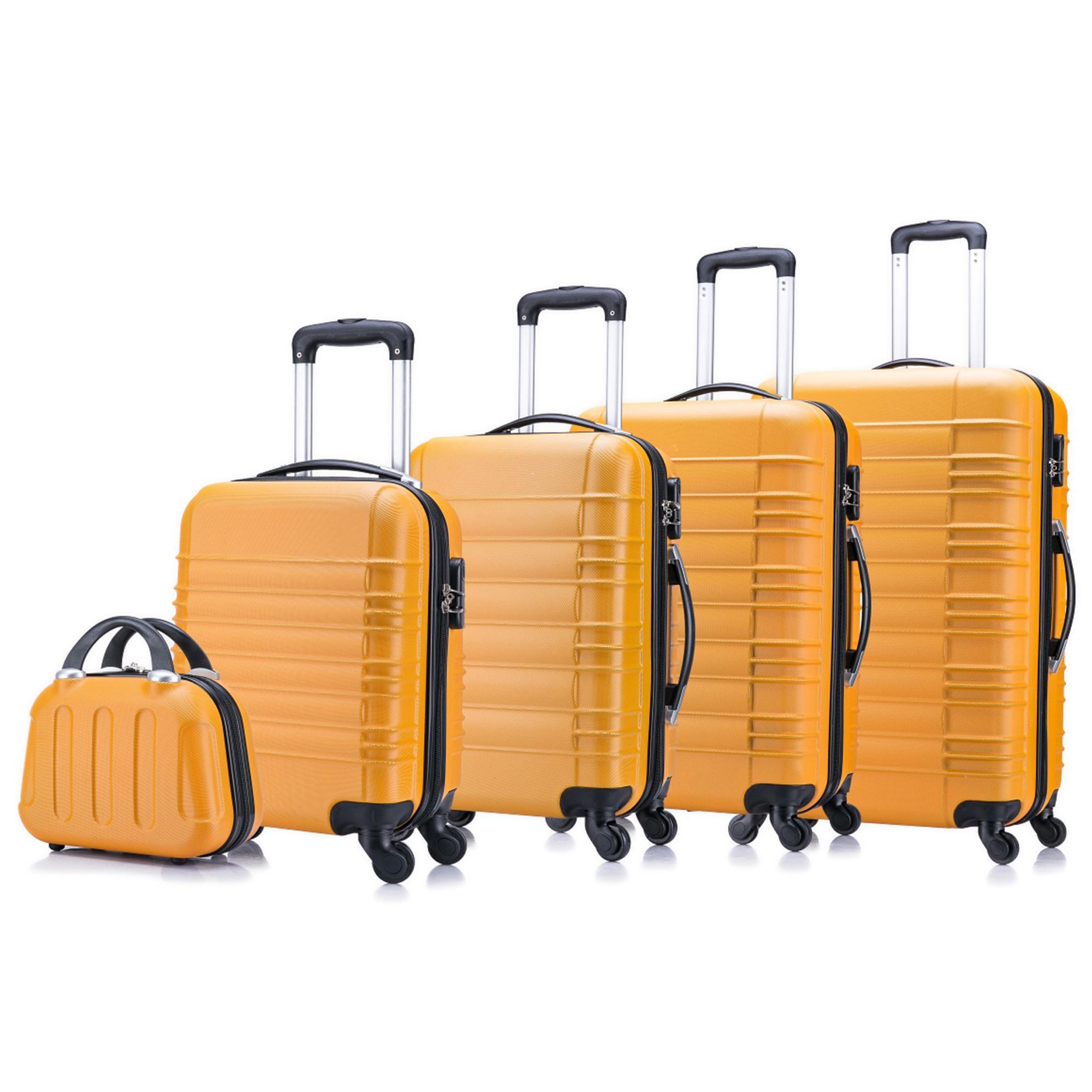 5 teiliges Koffer Set Hartschalenkoffer in 5 Farben - 29