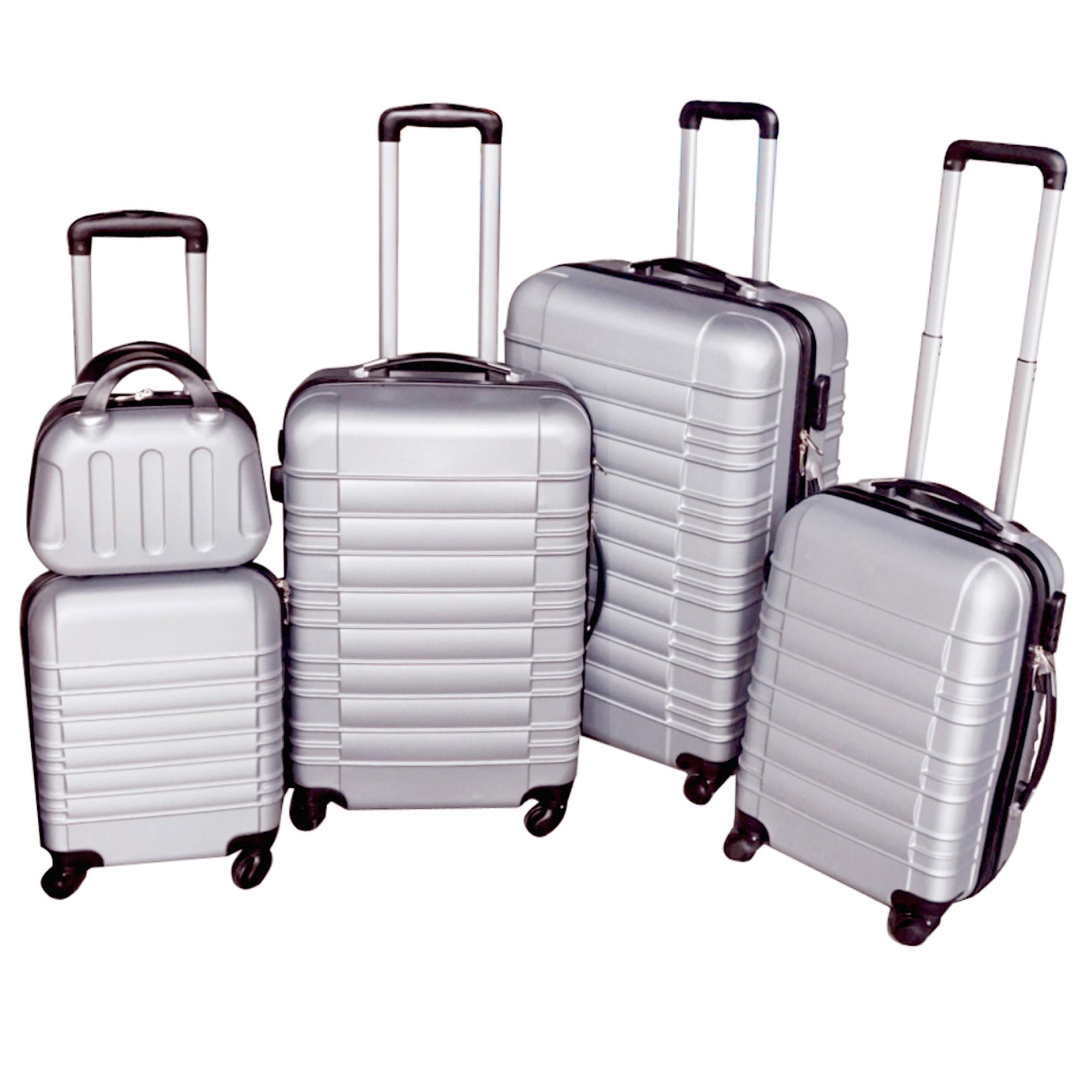 5 teiliges Koffer Set Hartschalenkoffer in 5 Farben - 35