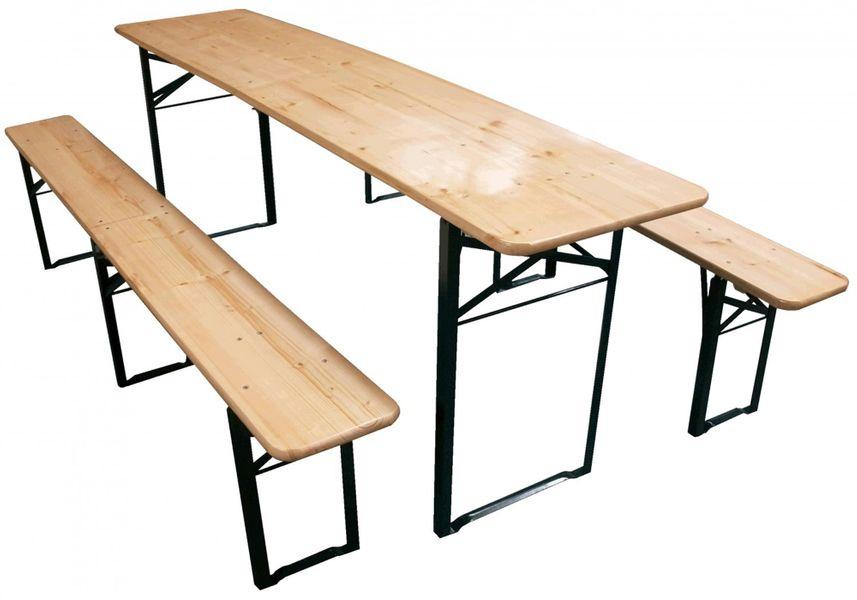 Jalano Bierzeltgarnitur Set Biertisch klappbar Sitzgruppe Garten Festzeltgarnitur L217 x B48 cm