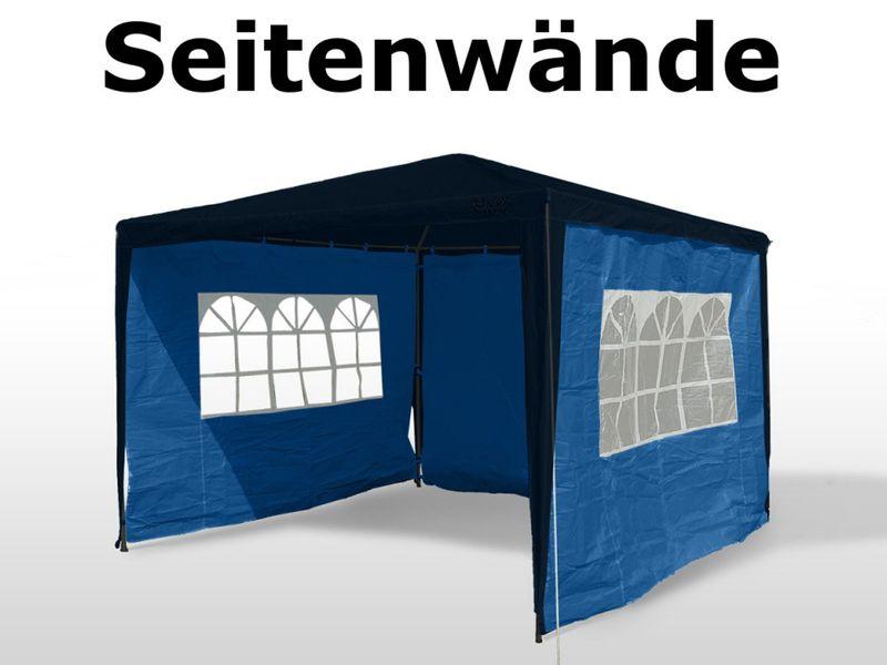 4 Stück Seitenwände für 3x3m Pavillon, Seitenteil Partyzelt Gartenpavillon blau