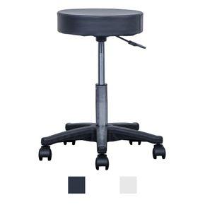 Drehhocker 80 mm Polsterung - Jalano Massagehocker in 2 Farben Rollhocker - Praxishocker höhenverstellbar 50 - 66 cm