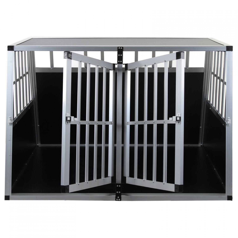 doppel hundebox aus alu mittelgro e hunde gitterbox. Black Bedroom Furniture Sets. Home Design Ideas