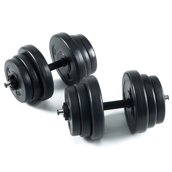 Jalano Hantel Set Kurzhanteln 30 kg 2x15 kg Stahl Kunststoff - 12 Scheiben Gewichte Sternverschluss