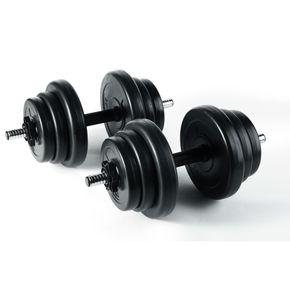 Jalano Kurzhanteln 2er Set 20kg 10kg Hantelstangen Gewichte Kunststoff