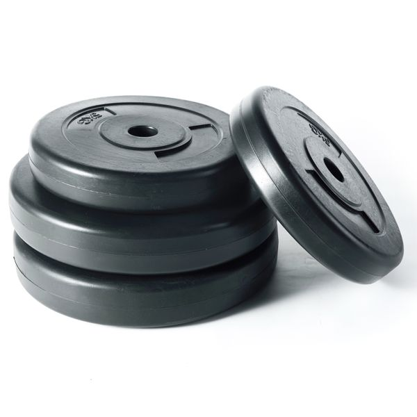 Jalano Hantelscheiben 30 kg Set Gewichte Hanteln Scheiben Hantelstangen 30 mm Durchmesser