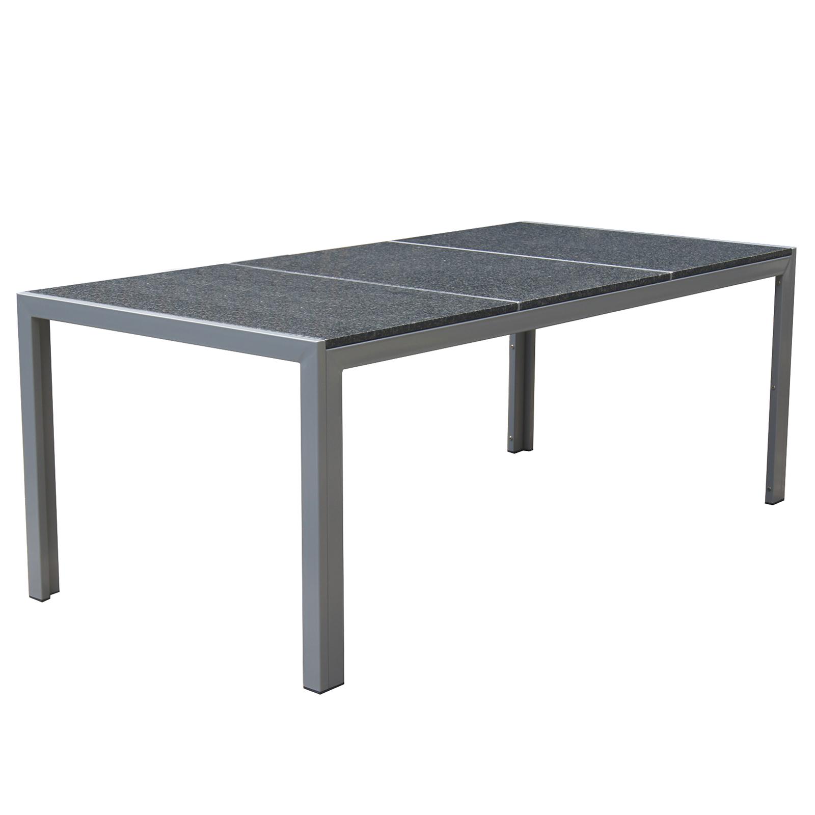 Granit Tischplatte Gartentisch Gartenmöbel Outdoor Esstisch