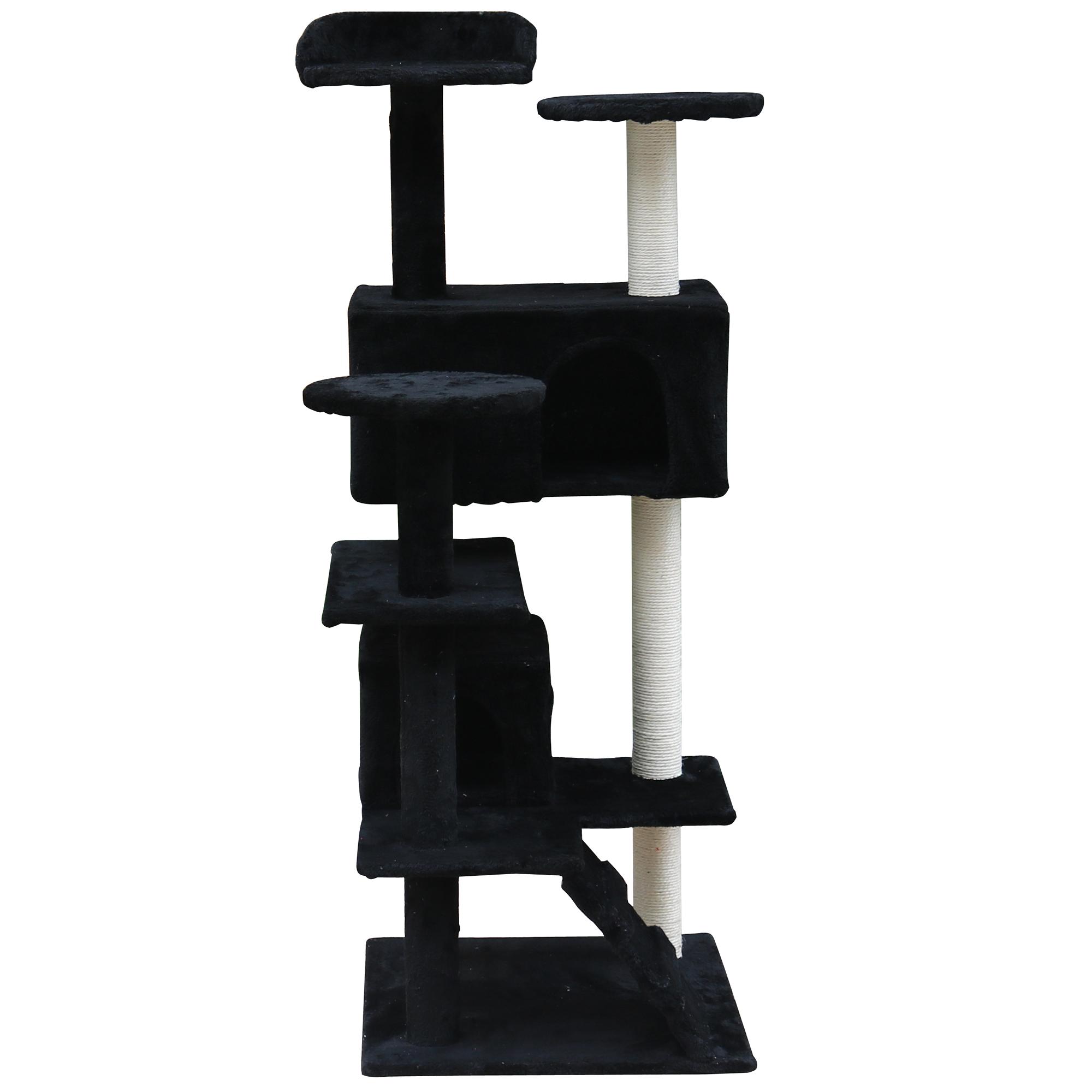 katzenkratzbaum katzenbaum kletterbaum kratzbaum baum f r katzen sisal 132cm ebay. Black Bedroom Furniture Sets. Home Design Ideas