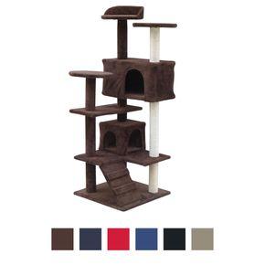 Katzenkratzbaum Spielsisal 132 cm hoch Katzenbaum Kletterbaum für Katzen Spielbaum groß mit Höhle Sisal Kratzmöbel