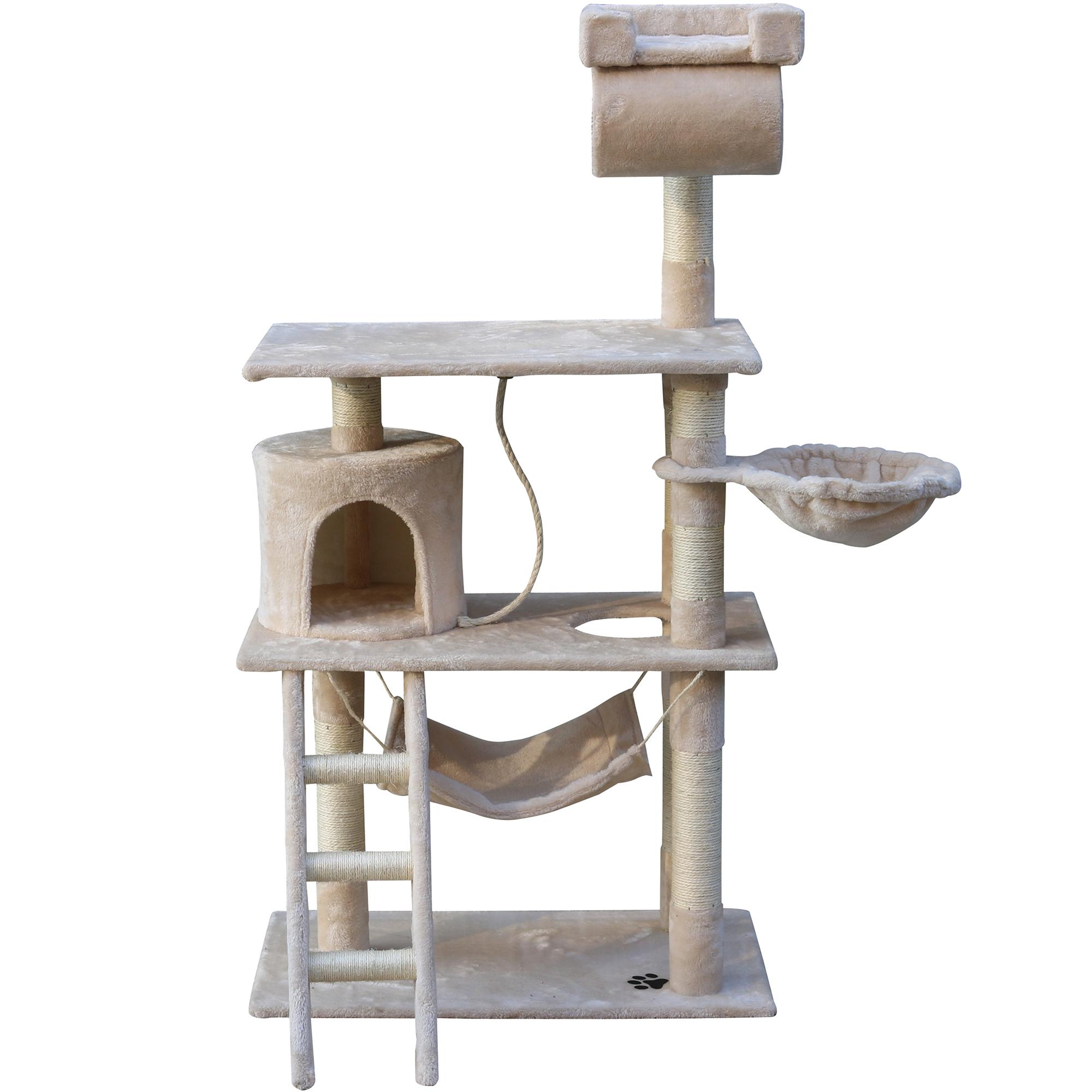 katzenkratzbaum katzenbaum kletterbaum kratzbaum baum f r katzen sisal 140 cm ebay. Black Bedroom Furniture Sets. Home Design Ideas