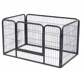 Welpenzaun Metall Welpenauslauf Freigehege Welpenlaufstall mit Tür für Hunde, Kaninchen, Katzen 70 cm