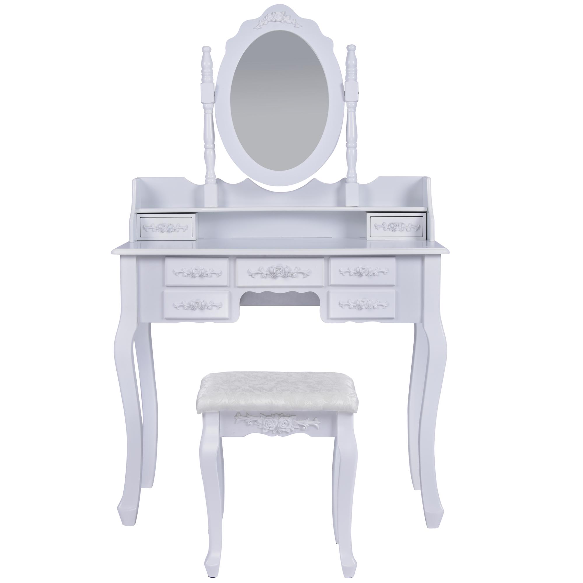 schminktisch roma wei frisiertisch set schminkkommode mit. Black Bedroom Furniture Sets. Home Design Ideas