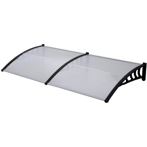 Vordach schwarz Überdachung Haustürdach Türdach Pultvordach Polycarbonat 5mm Dicke mit Profilen