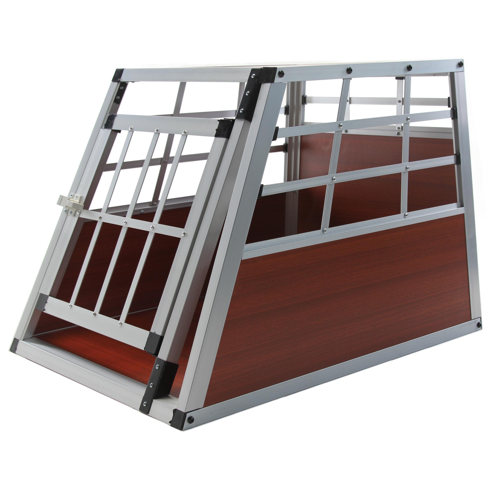 hundetransportbox metall s auto gitterbox kleine hunde alu hundebox kofferraum ebay. Black Bedroom Furniture Sets. Home Design Ideas