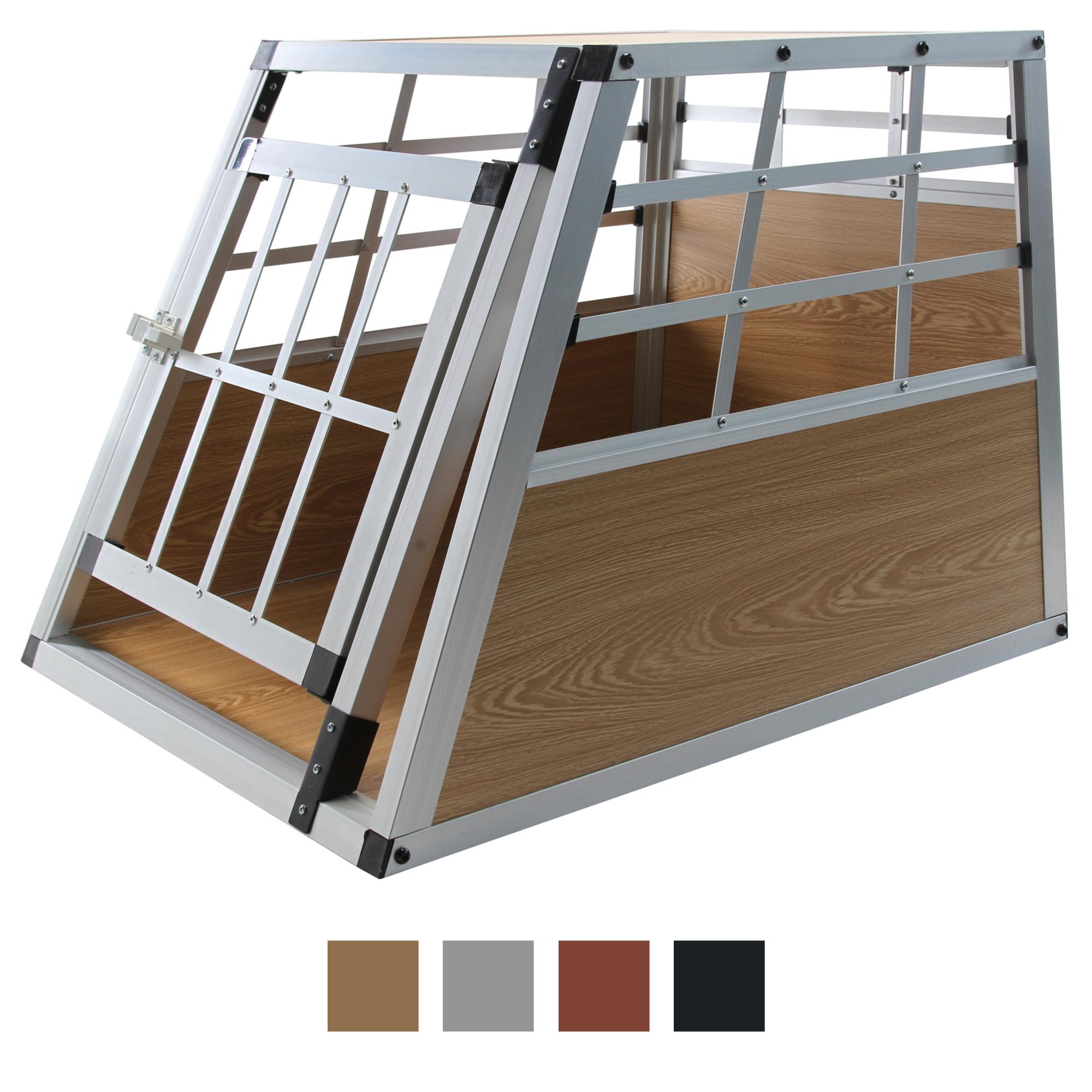 jalano hundetransportbox s auto gitterbox kleine hunde alu. Black Bedroom Furniture Sets. Home Design Ideas