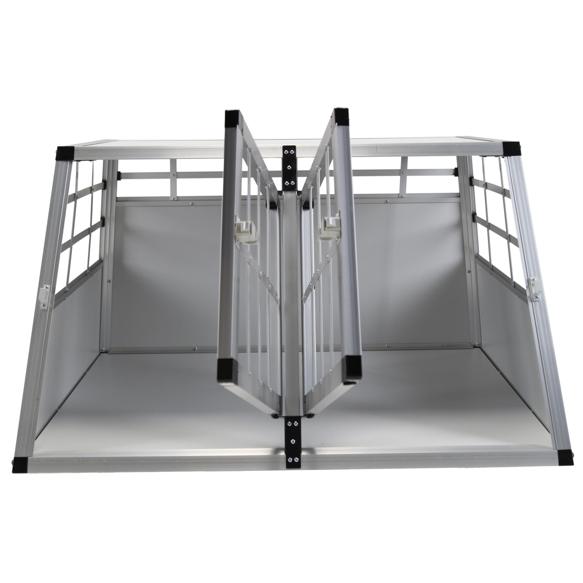 doppel hundetransportbox hundebox transportbox reisebox hunde katzen auto box s ebay. Black Bedroom Furniture Sets. Home Design Ideas