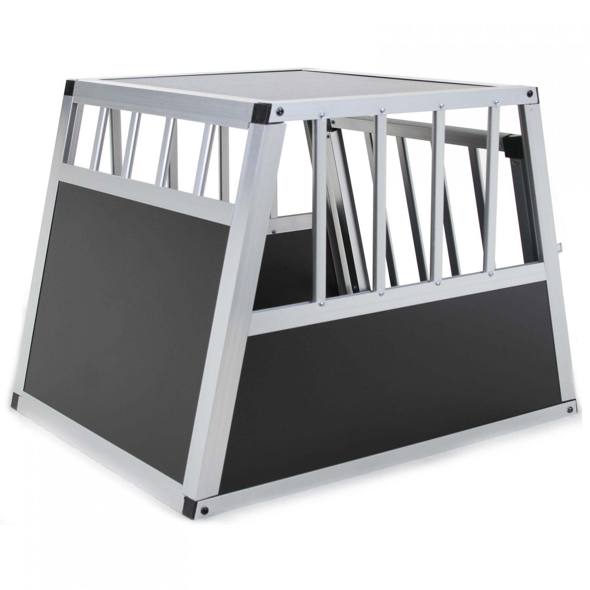jalano hundetransportbox gr e s auto gitterbox hunde alu. Black Bedroom Furniture Sets. Home Design Ideas