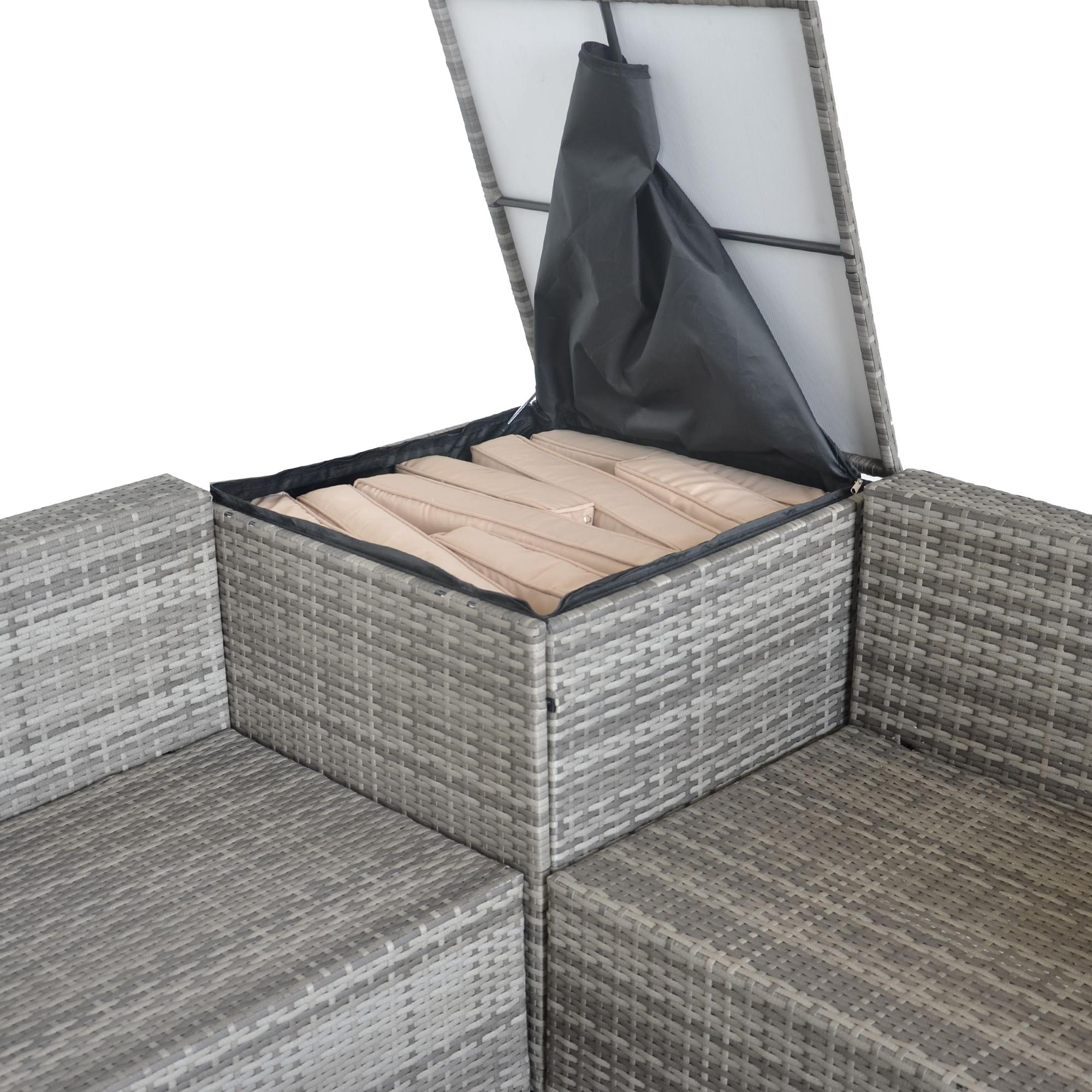 Favorit Paket] Jalano Poly Rattan Lounge Set Gartenmöbel Gartengarnitur 4 JM69