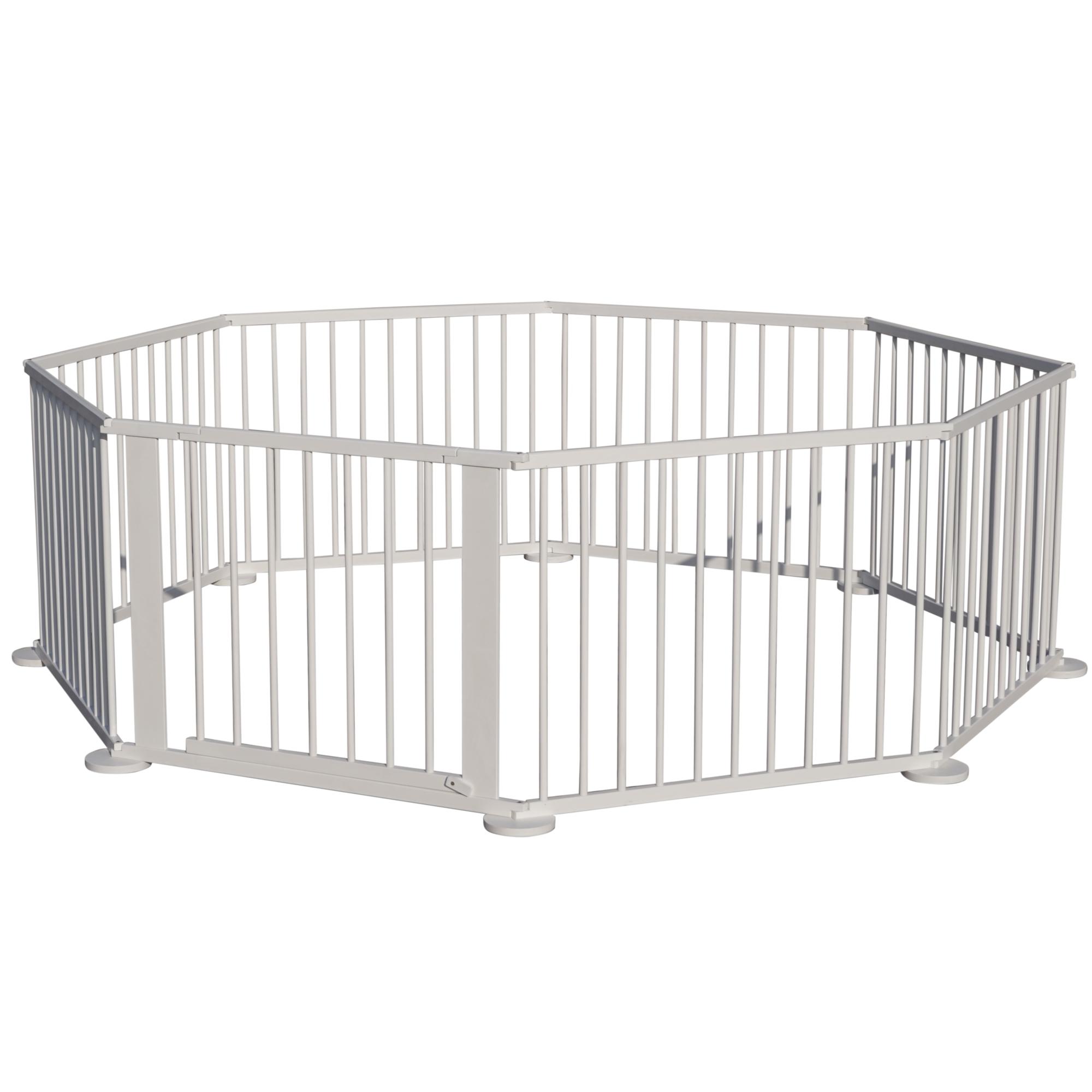 xxl baby laufgitter wei lasiert absperrgitter flexibler laufstall 8 eck 4260424135665 ebay. Black Bedroom Furniture Sets. Home Design Ideas
