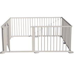 xxl baby laufgitter wei lasiert absperrgitter flexibler laufstall 8 eck ebay. Black Bedroom Furniture Sets. Home Design Ideas