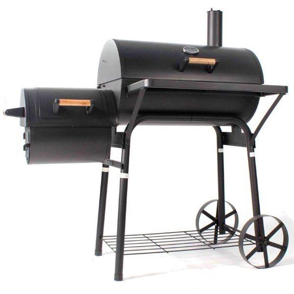 Jalano BBQ Smoker 01 Holzkohlegrill Temperaturanzeige Grillwagen