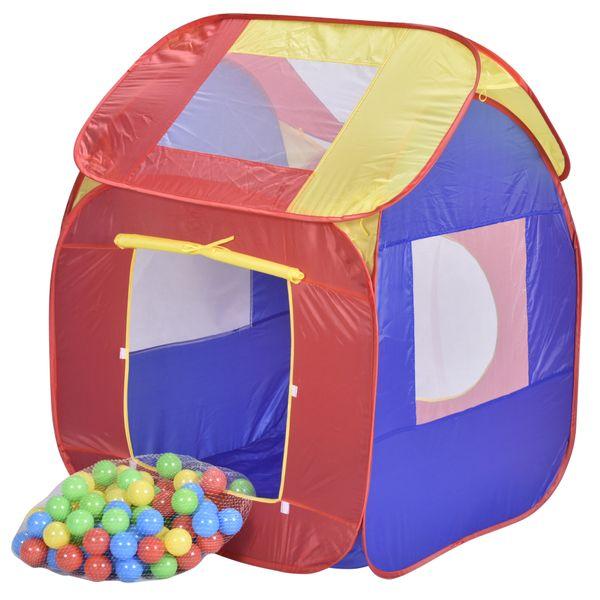 Jalano Spielzelt Pop Up Bällebad Spielhaus Bällehaus Kinder Set 200 Bälle Tasche