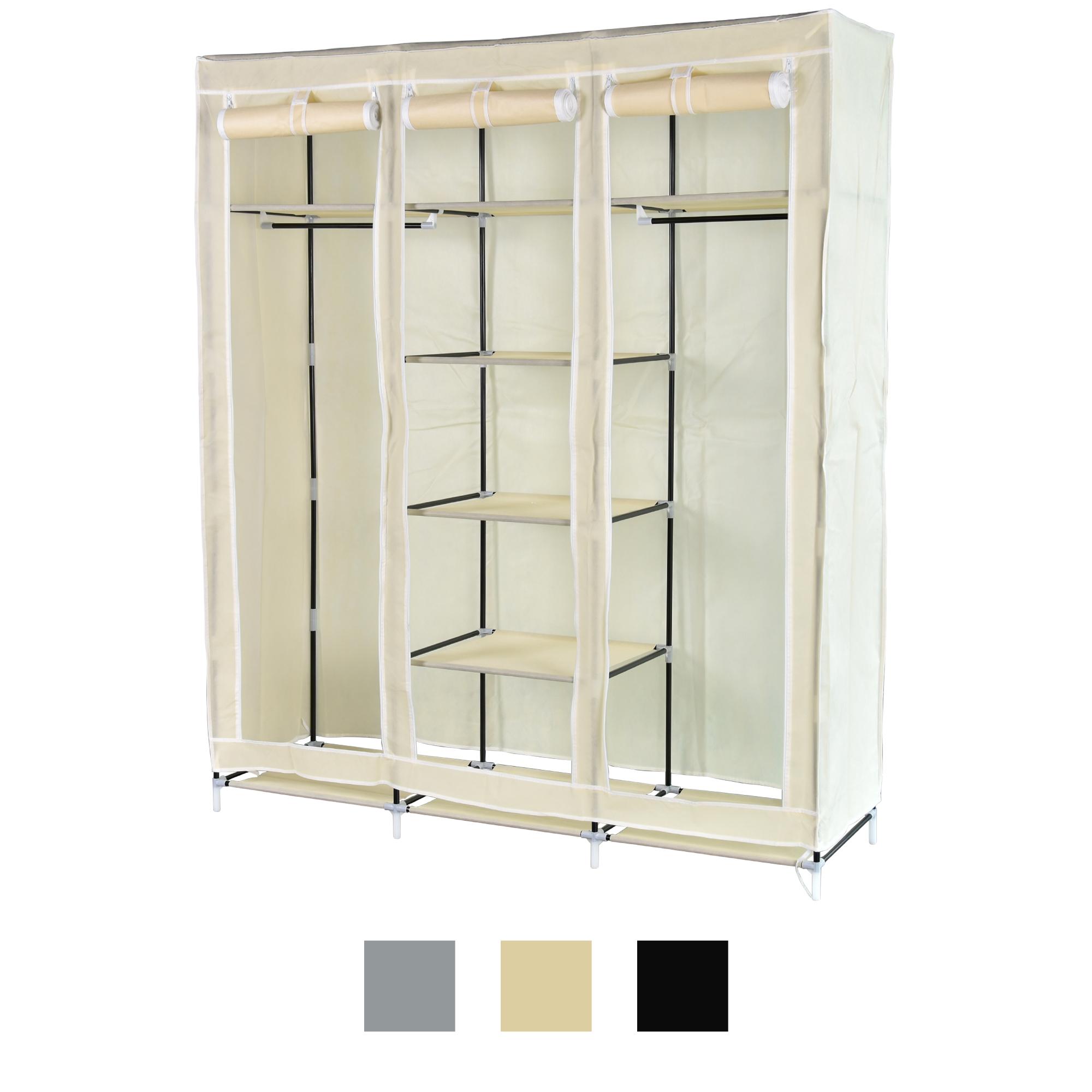 xxl stoffschrank kleiderschrank faltschrank regal faltbar schrank 150x45x175 cm ebay. Black Bedroom Furniture Sets. Home Design Ideas