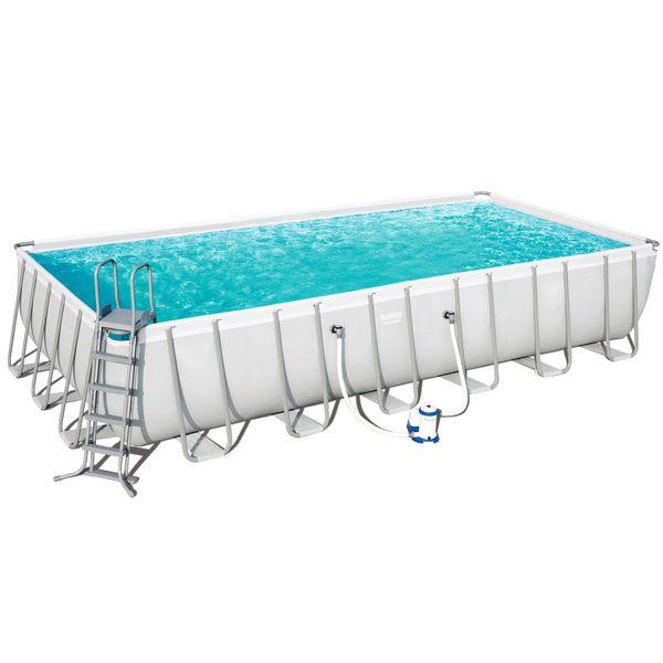 Bestway Pool Power Steel™ Stahlrahmen-Pool-Set 732 x 366 x 132 cm + Zubehör