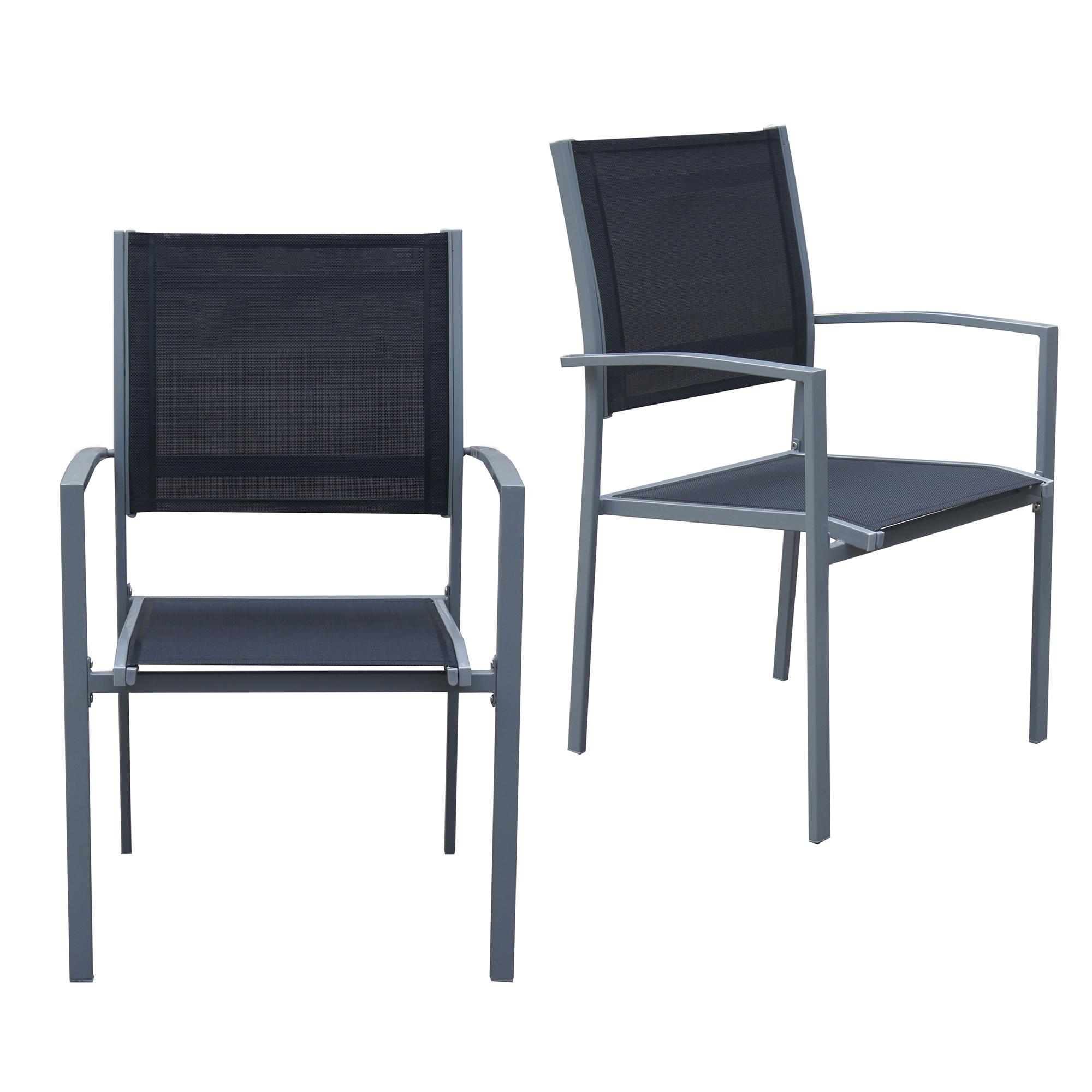 jalano gartenstuhl wei wetterfest stapelstuhl 2er set terrasse stuhl b ware ebay. Black Bedroom Furniture Sets. Home Design Ideas