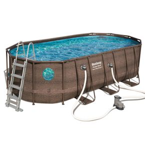 "Power Steel Deluxe Series 18' x 9' x 48""/5.49m x 2.74m x 1.22m Oval Pool Set"