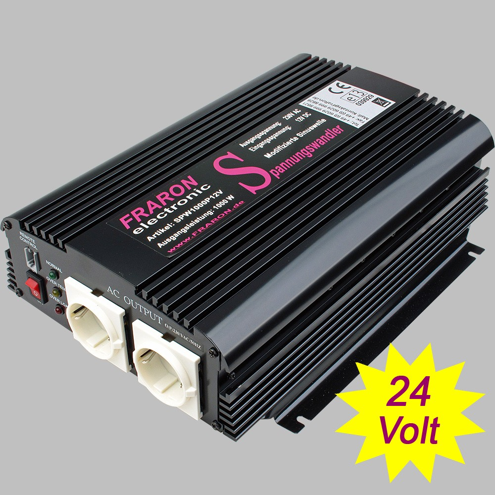 Power Inverter Modified Sine Wave 1000 Watt 24v Digital Circuit 250 Watts Electronic To 230v