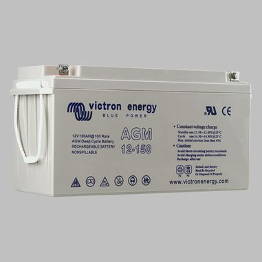 165AH AGM deep cycle semi traction battery BlueSolar