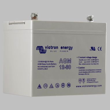 38AH AGM deep cycle semi traction battery BlueSolar