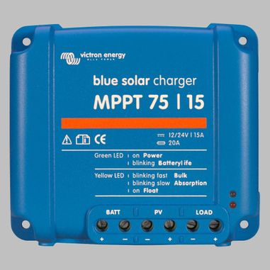 MPPT Solar charge controller 15A for 12V / 24V Battery Systems, max. PV voltage 75V